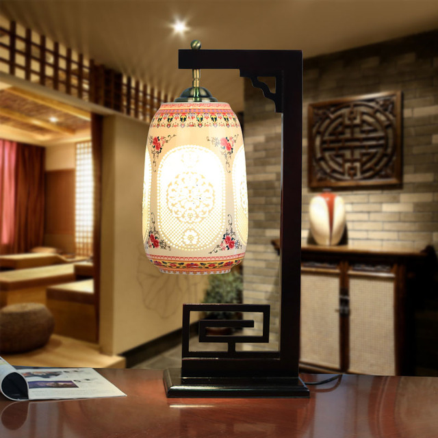 China Antique Living Room Vintage Table Lamp Porcelain Ceramic Table ...