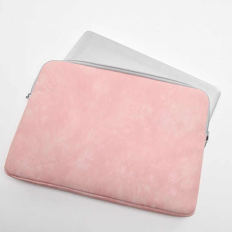 """2018 Terbaru Merek Kulit Kasus Lengan untuk Laptop Macbook Udara Pro 13 """", 14'', 15 Inch, tas Buku Catatan 13.3 """", 15.4"""", Bebas Shipping"""