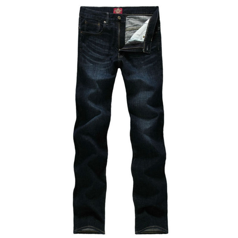 Pria Jeans Pria Merek 100% Katun Desainer Jeans Slim Besar & Tinggi - Pakaian Pria - Foto 3