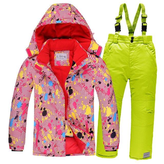 d20c4973435a7 OLEKID-30 Degrés Russie Hiver Enfants Filles Sport Costume Imperméable À  L eau Chaude