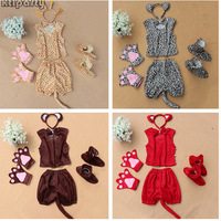 Freeshipping Cat Wolf Cow Frog Zebra Bear Dog Elephant Leopard Mouse Hairband Gloves Tie Shoes Children