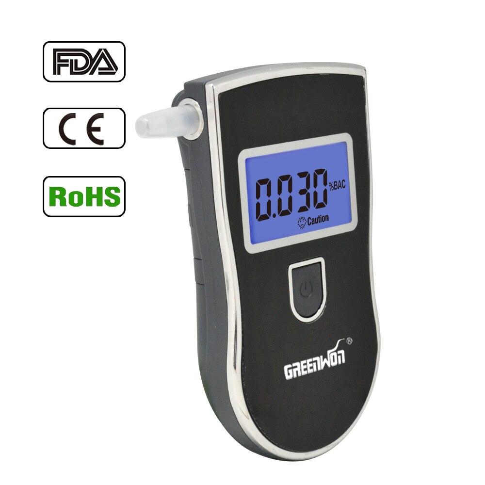 Breath Portable Analyseur D'alcool, numérique Alcootest Testeur, Écran lcd en Deux Unités: % BAC & g/L d'alcool souffle testerAT-818