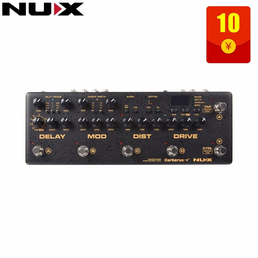 NUX Cerberus multi-fonction effet pédale à l'intérieur du routage IR chargeur analogique Qverdrive/distorsion 4 méthode de câble effets de Modulation