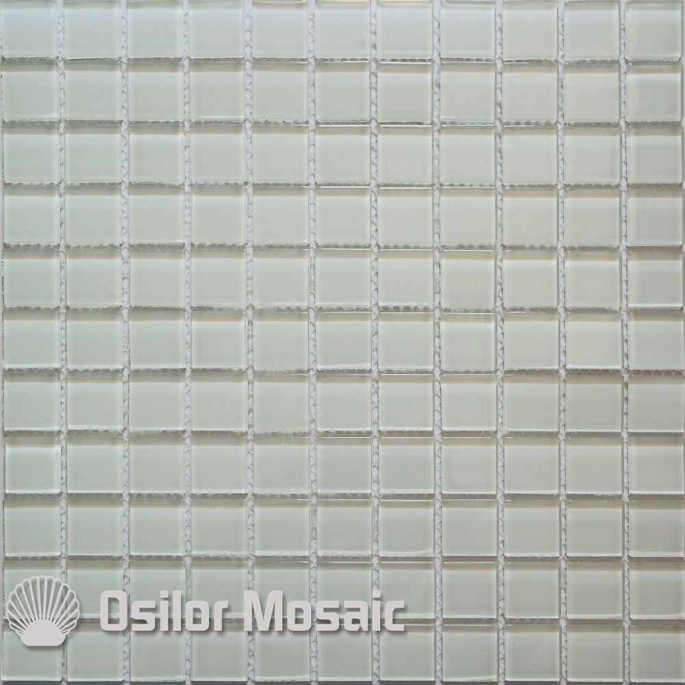 Hot Sale Free shipping white glass crystal mosaic tile for bathroom ...