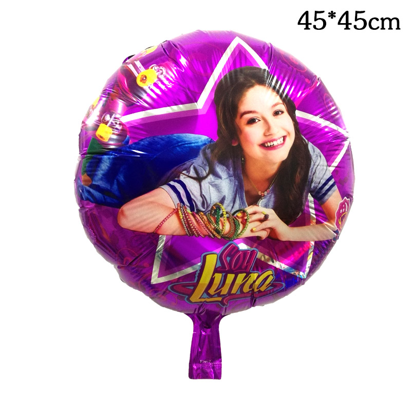 10pcs 18inch Soy Luna Girl Foil Balloons Baby Girl Birthday Party Princess Luna Toy Air Helium Globos Childrens Luna Toys Decor