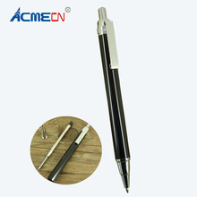 New Arrival Black Ballpoint Pen Silver trim Unisex Click Ball Pen Slim Design Push Pens for School Students Gifts Cool Pens недорого