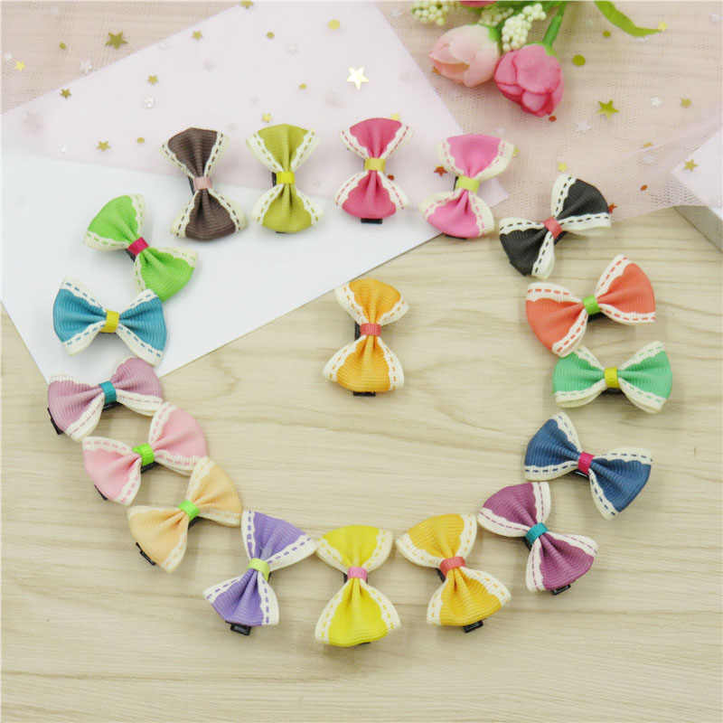2PCS/LOT Novelty Side Solid Small Bow Hairpin For Girls Handmade Child Headband Scrunchy Clip Hair Accessories For Kid 2018