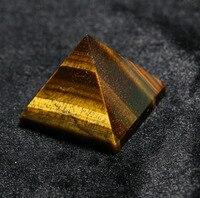 2015 тигровый глаз кристалл кварца гравированные 40 мм 1,5 дюймов Пирамида резные Камень Чакра Камни Исцеление Рейки кулон Бесплатная доставка