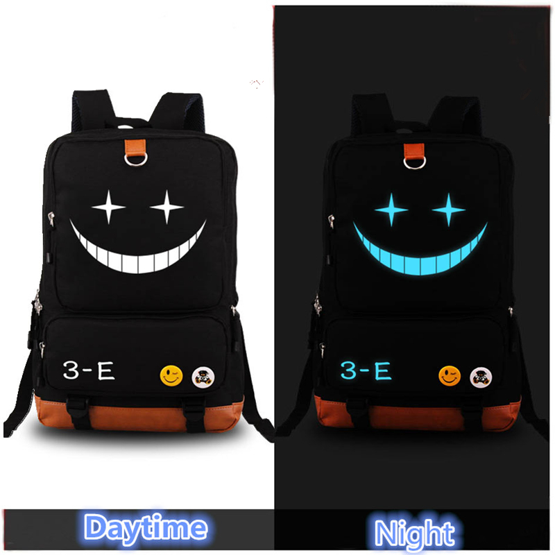 2017 New Anime Assassination Classroom Laptop Backpack Bag Cosplay Backpacks for Teenage Girls Boys Shoulder School Bag Bookbag anime noragami aragoto yato backpack for teenage girls boys cartoon yukine children school bags casul book bag travel backpacks