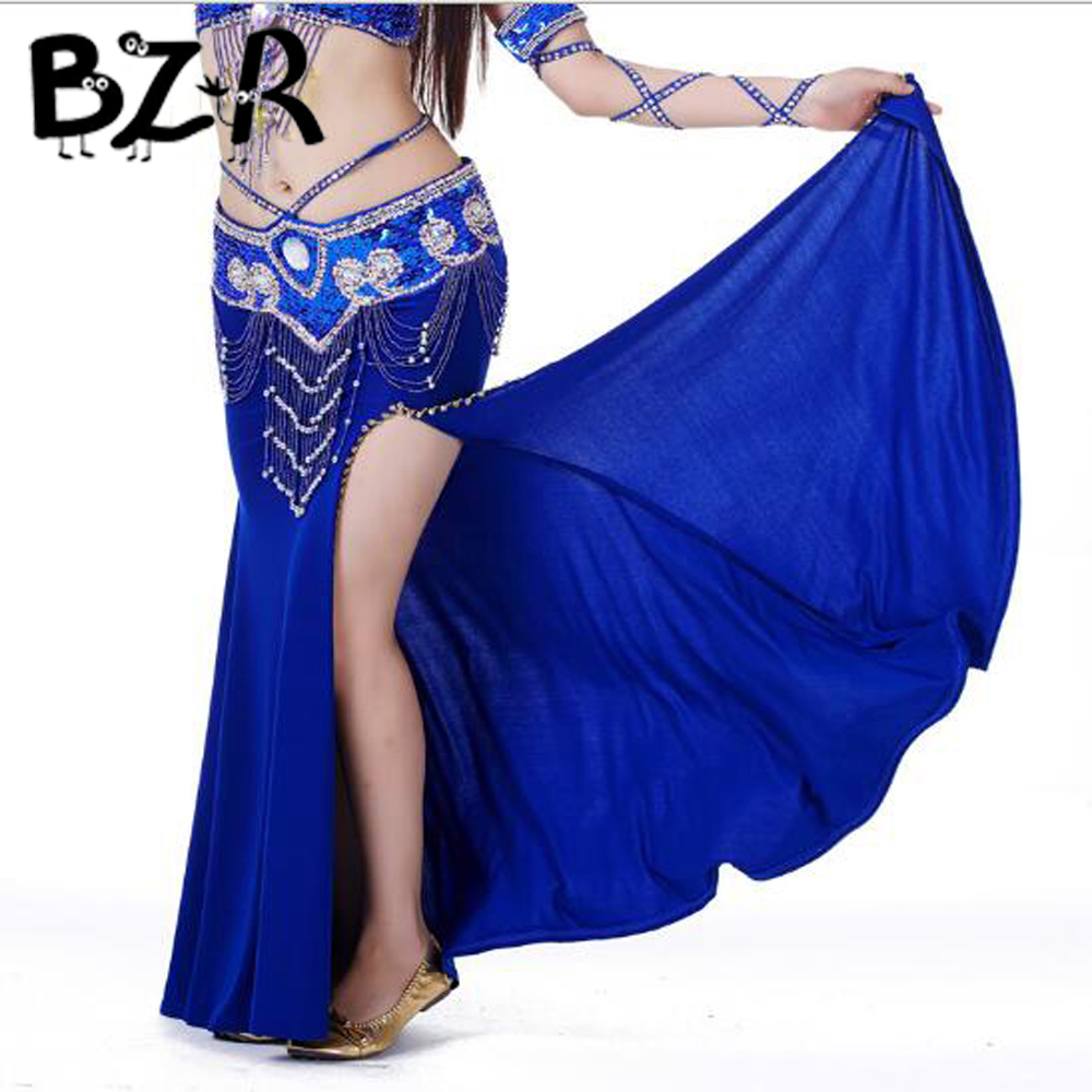 Bazzery 2018 New Arrivals Belly Dance Skirts Lady Indian Dress Women Belly dancing Gypsy Skirt for Dancers Female Perform Wear