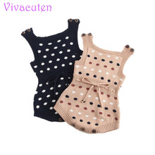 INS baby Knitted Rompers Newborn In Baby Girls' Rompers&Jumpsuit Vest Top Tee Kids Boys Gray Rompers 0-3 Years Girl Clothing