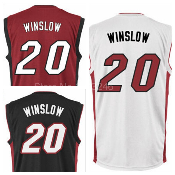 save off 2ae29 047fe US $14.86 |Miami 20 Justise Winslow Jersey College Basketball Jerseys Duke  Blue Devils Justise Winslow Shirt Best Quality Black Red White-in ...