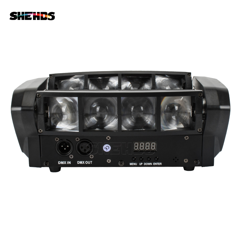 Hot Free Shipping Portable NEW Moving Head Light Mini LED Spider 8x6W RGBW Beam Light Good Quality Fast Shipping