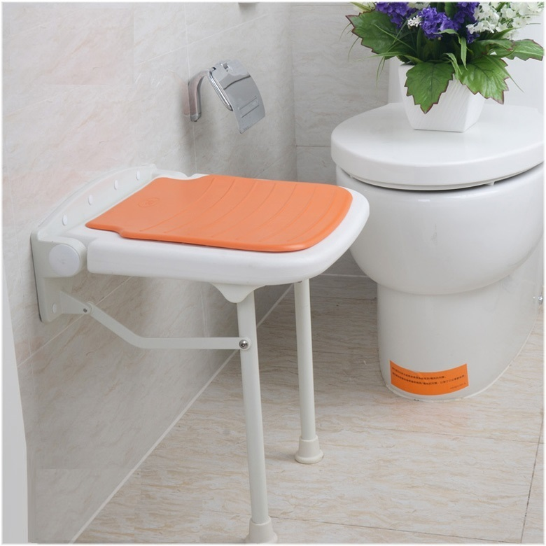 Nursing home Old man toilet stool Folding plastic PE wall stool free shipping gray green color seat bathroom folding seat shower stool shower wall chair stool old people anti skid toilet stool bath wall chair