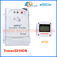 MPPT Tracer2210CN solar panel regulator with white remote meter MT50 20A 20amp free shipping