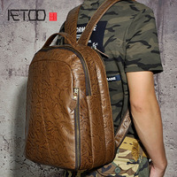 AETOO Men S Large Capacity First Layer Of Leather Ham Leather Leather European And American Models