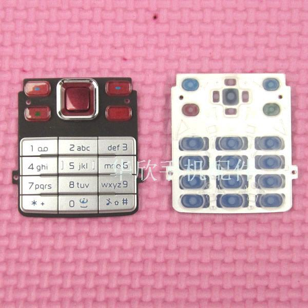 Galleria fotografica Red & Silver Nuova Funzione Principale Tastiere Per <font><b>Nokia</b></font> 6300 Pulsanti di Caso Tastiere Spedizione gratuita