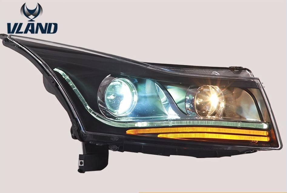 Vland factory for CRUZE headlights LED 2009 2010 2011 2014 head lamp front light Bi-Xenon Lens xenon HID