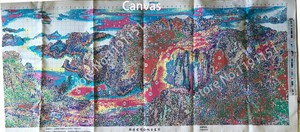 Image 4 - QIANZEHUI, 바느질 작업, DIY 정밀 인쇄 조경 회화 크로스 스티치, 떠오르는 태양 자수 키트 세트 크로스 스티치
