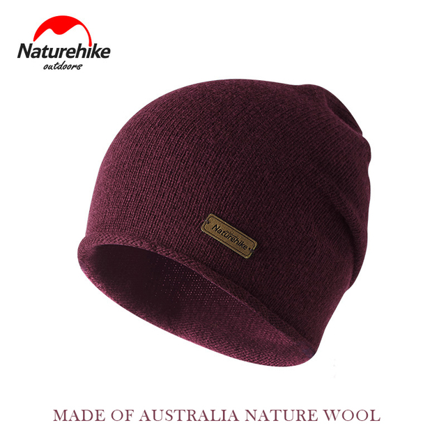 42aa26d1e82 Naturehike Winter Knitted Wool Hat Keep warm in winter man women travel cap  Outdoor Thick Caps camping hiking Hats Protable