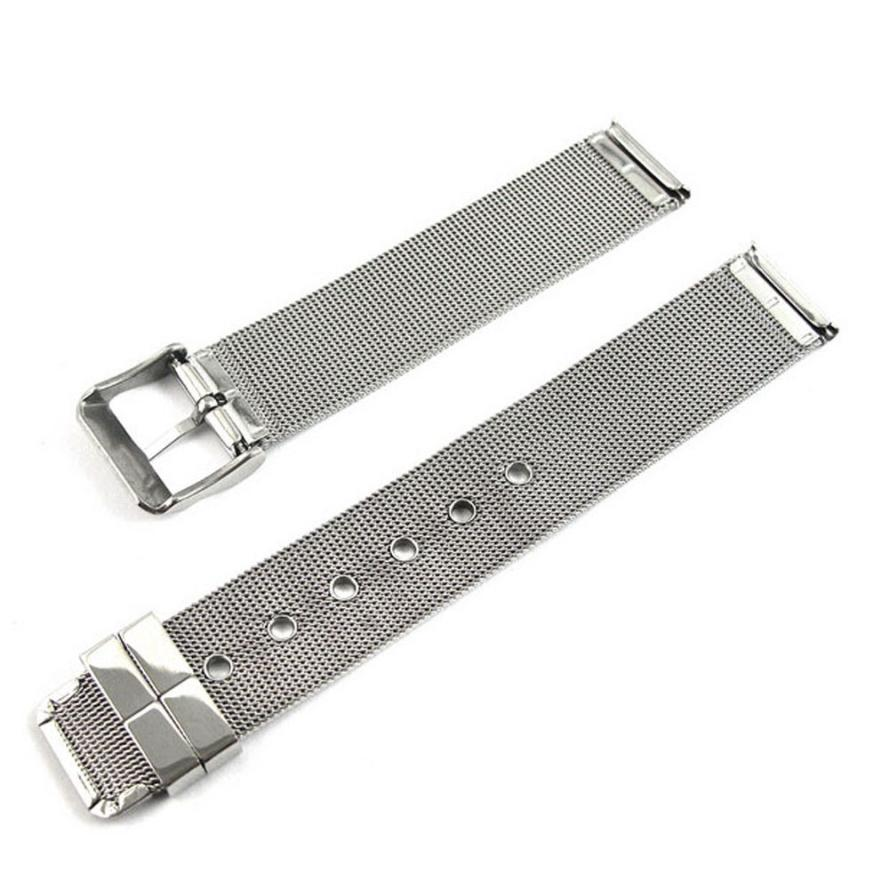 High Quality Watchband 18mm Fashion Stainless Steel Mesh Watch Band Silver Dec22