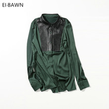 Blouse Womens Tops and Blouses Plus Size Shirt Ladies Tops Vintage Streetwear Long Sleeve Green Blouse Women Shirt Women 2018