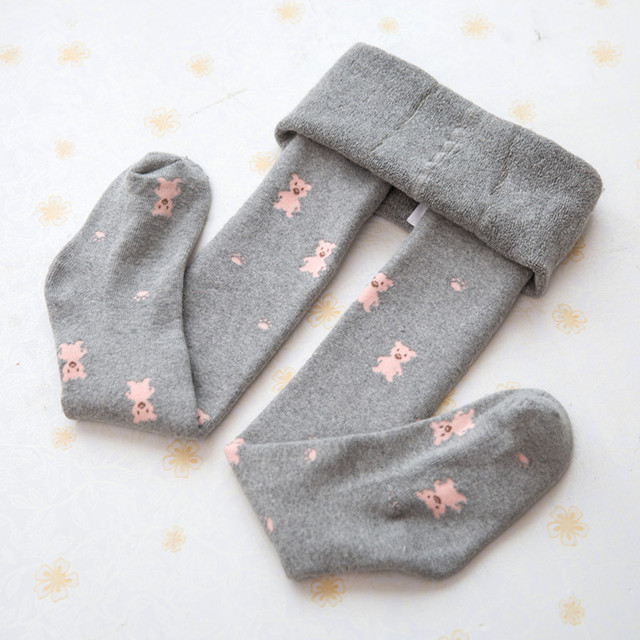 Girls child pantyhose autumn and winter thickening loop pile child cute thick baby girl socks 100% cotton white dance socks