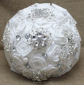 2016 роскошный белый свадебный букет горячие продаж с цветами в руках с колокольным звоном кристаллы свадебные цветы свадебные букеты