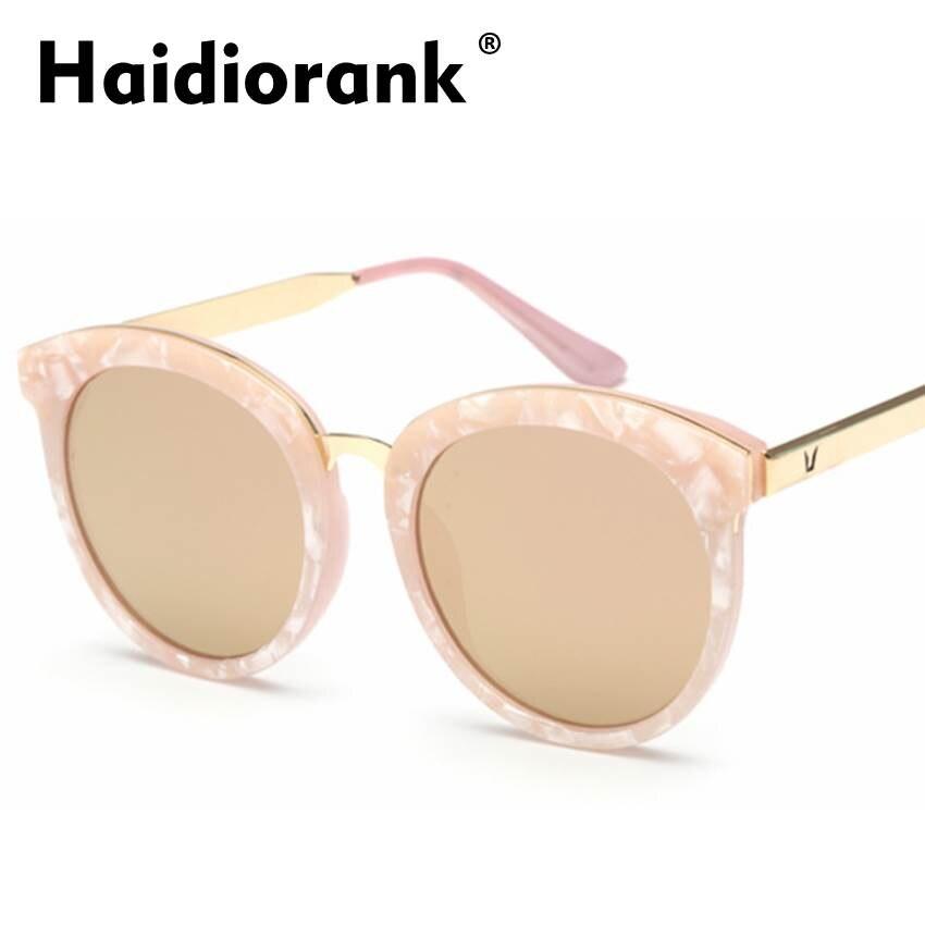 4aeb07b2b64c65 De luxe lunettes de Soleil Femmes Marque Designer 2017 Vintage Rétro Cat  Eye Miroir Lunettes de Soleil Pour Femmes Top Vente Femelle Logo Hipster