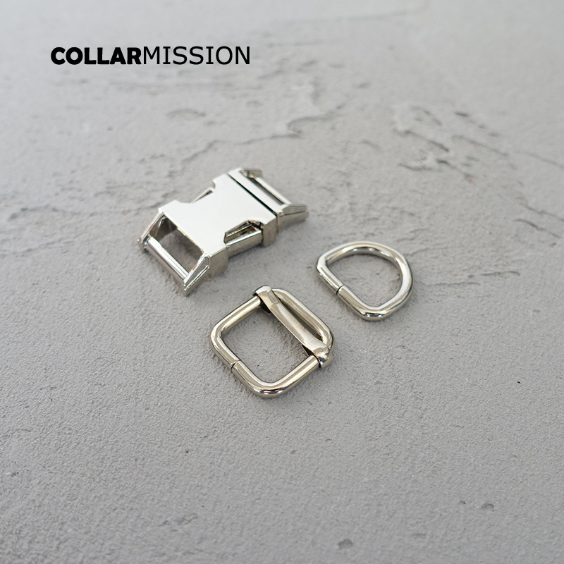 10sets lot metal buckle adjust buckle D ring set safety clasp DIY sewing accessory 15mm plated