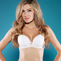 Women Sexy Seamless Demi Bra Lace Push Up Bras Women Underwear Adjusted Straps Large Cup CDE Bralette Sheer Strappy Bras Cropped