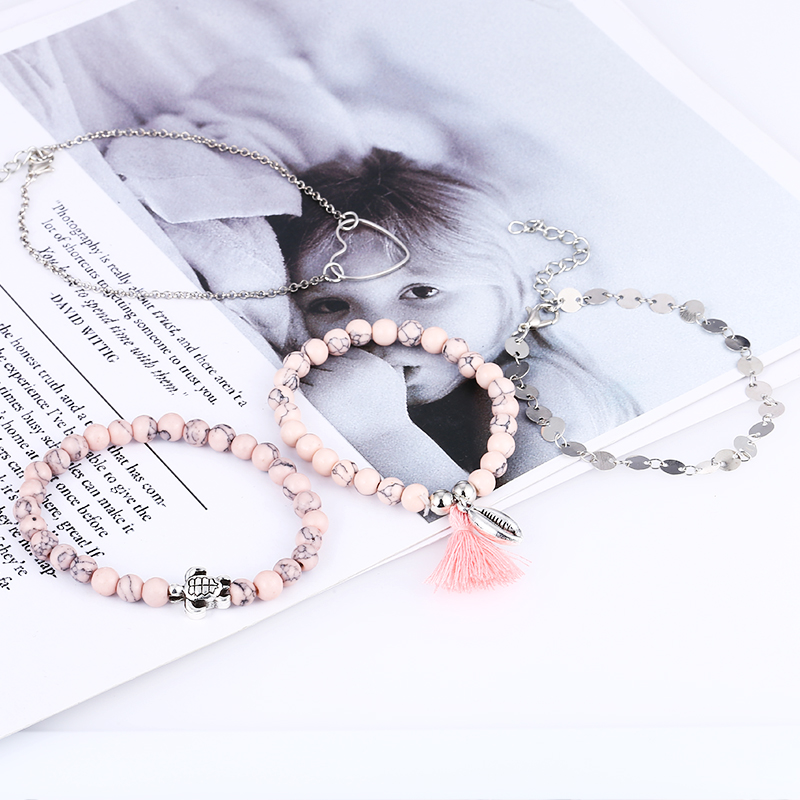 2019 New Fashion Nature Stone Femme Gold Bangle 4pcs Set For Women Open Bracelets Set Gift Wholesale Men And Women Gift Jewelry in Charm Bracelets from Jewelry Accessories