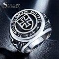 De aço soldado Nova Chegada cruzadas Cavaleiros Templários anel homens jóias exclusivas de aço inoxidável requintado dos homens do motociclista anel