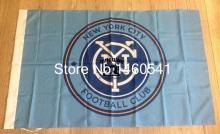 New York City FC Flag 3ft x 5ft Polyester North American Soccer US Soccer Club Banner Size 4 144* 96cm QingQing Flag