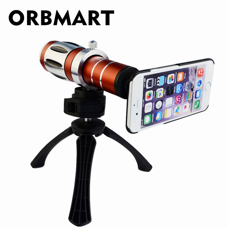 ORBMART 20X Mobile Phone Magnification Optical Zoom Lens Camera Telescope With Mini Tripod Case Cover For Apple iPhone 7 7 PlusORBMART 20X Mobile Phone Magnification Optical Zoom Lens Camera Telescope With Mini Tripod Case Cover For Apple iPhone 7 7 Plus