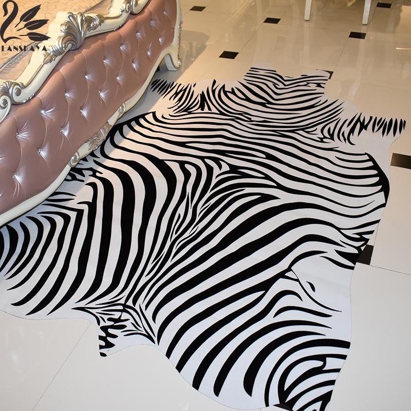 Zebra Rug Faux: 2018 Alfombras Hand Wash 200x140cm Zebra Mat Print Rug