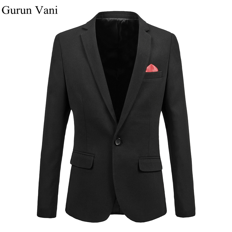 Men s Dress Blazer Fashion Business Suit Jackets Red Patch Decoration Blazer Slim Veste Homme Mariage