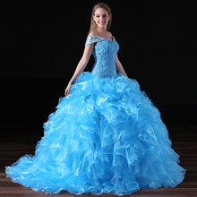2018 Vintage Quinceanera Dresses Tiered Ruffles Organza Crystal Plus Size Custom Made Prom Gowns
