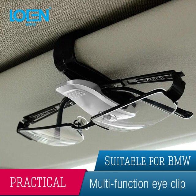 Car Eyeglasses Glasses Holder Ticket Clip Auto Fastener Cip Auto Accessories ABS Car Vehicle Sun Visor Sunglasses