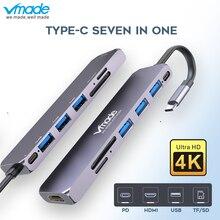 Vmade USB C HUB USB-C to 3.0 HUB HDMI Thunderbolt 3 Adapter for MacBook Samsung Galaxy S10 Plus Huawei P30 Pro Type C USB HUB