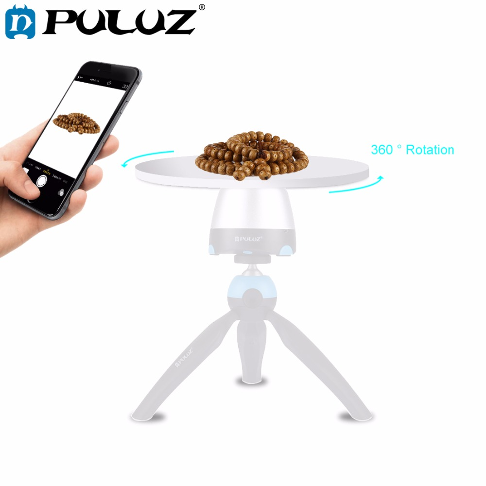 PULUZ 1/4 Screw Interface Round Tray Compatible With Electronic 360 Degree Rotation Panoramic Tripod Head Diameter: 18cm/7inch