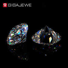 GIGAJEWE EF 1ct 6.5mm VVS Round Excellent Cut Moissanite Loo