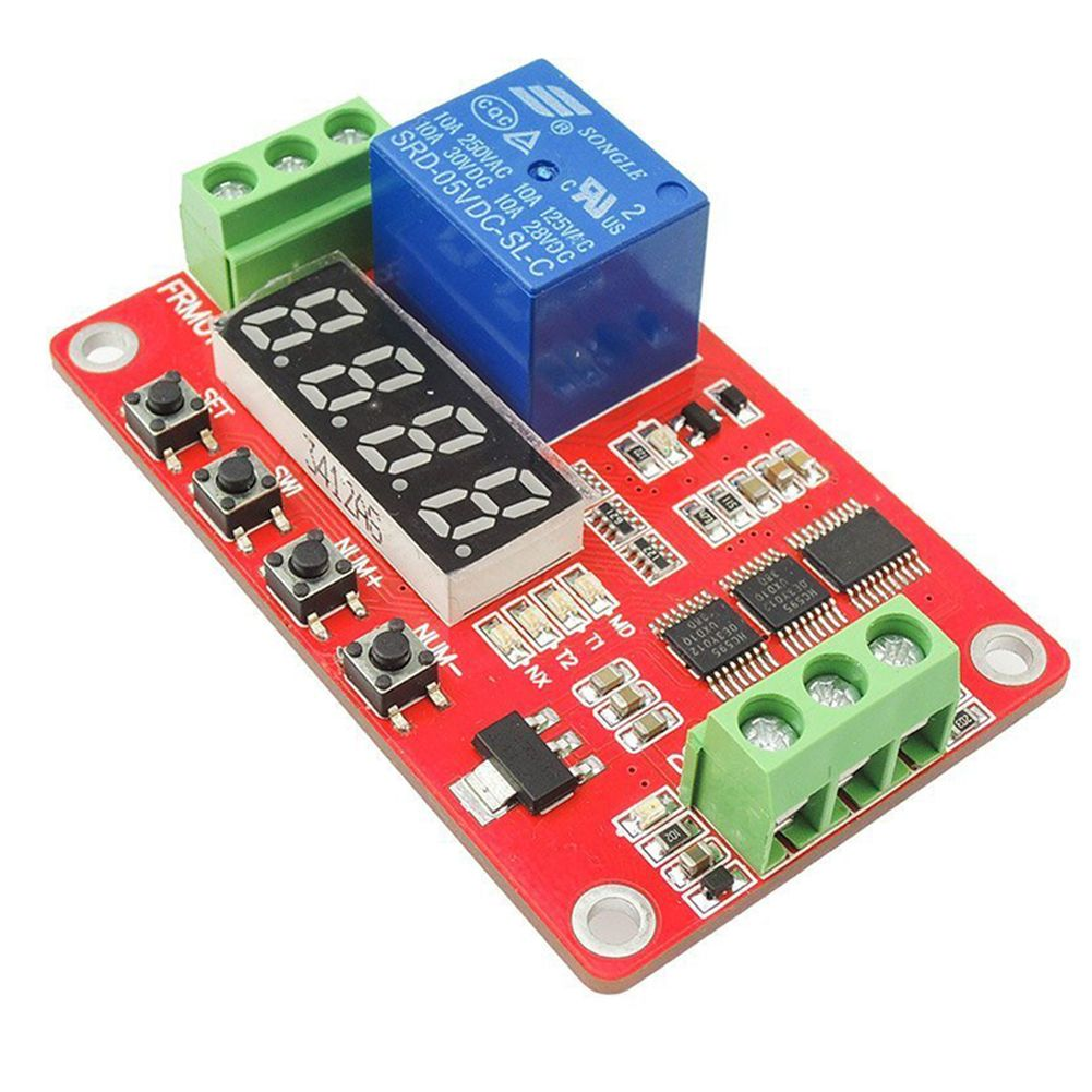цена на FRM01 5V DC Multifunction Self-lock Relay PLC Cycle Timer Module Delay Time Switch Detection Control Module Relays 18 functions
