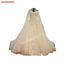 45880 Lace V-neck Wedding Dress Appliqued Bridal Gown