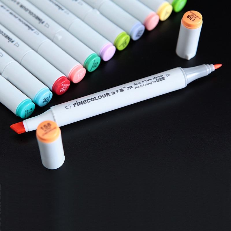 Marcadores da Arte mangá finecolour marcadores À base Barrel Size : 153mm