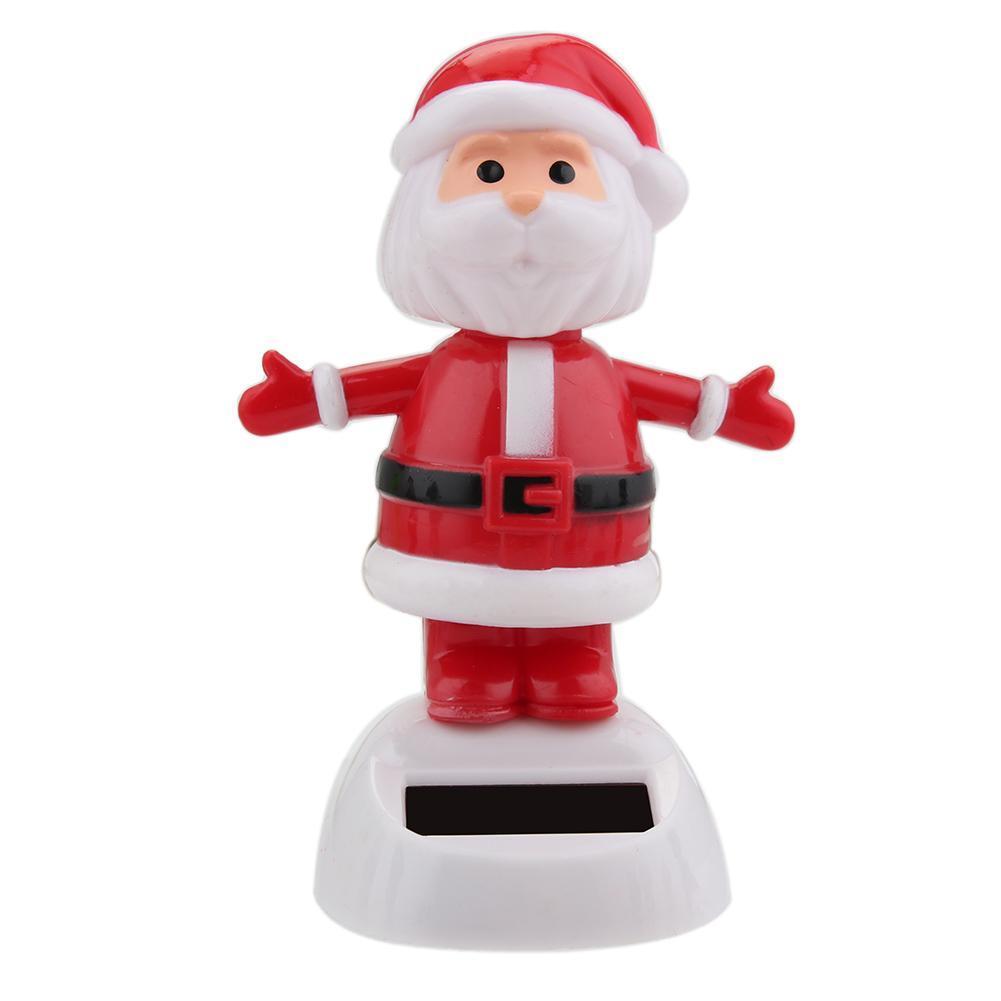 Восхитительная новинка, игрушки на солнечных батареях, движущиеся, рождественские, Санта Клаус, танцующая панда, домашний стол, декор для автомобиля, рождественские игрушки, подарки для детей - Цвет: G