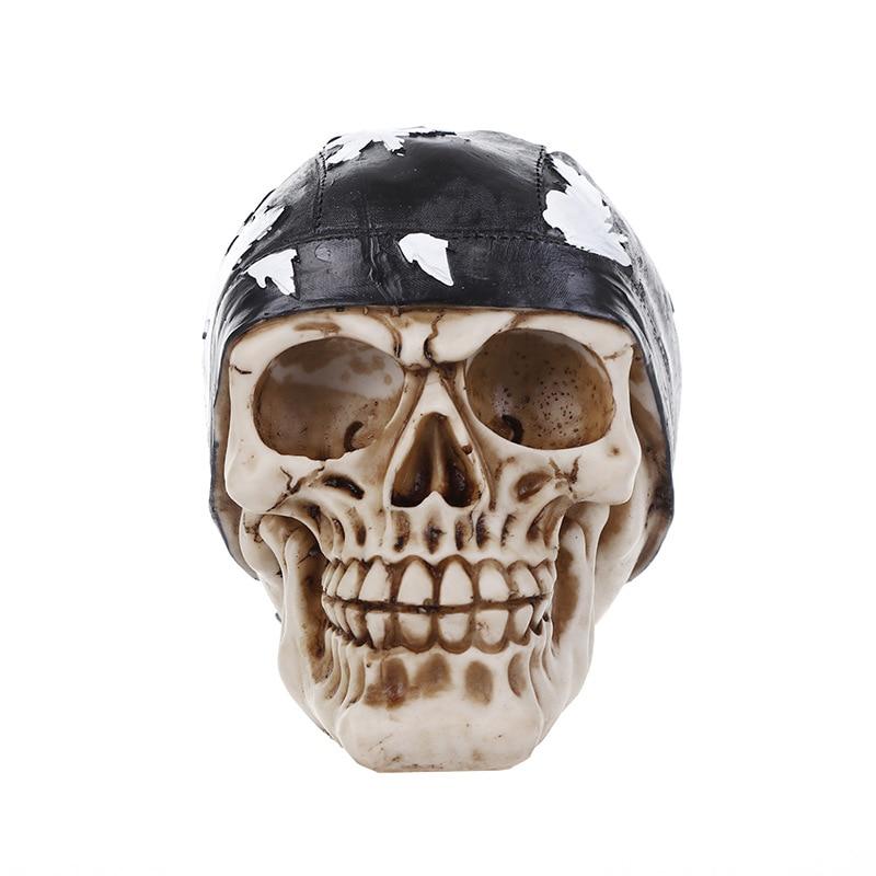 European Style Simulation Skull Hooded Resin Skullcandy Creative Artware Halloween Gift Home Furnishing Articles L953