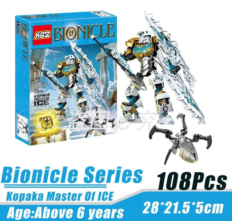 BionicleMask of Light XSZ 708 2 Children s Kopaka Master Of ICE Bionicle Building Block Minifigure