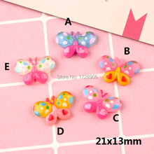 Miniature Resin Cabochons Butterfly Insect Animal Cabochon 10 pcs 21*13 mm DIY Scrapbooking Phone Case Decorative Craft