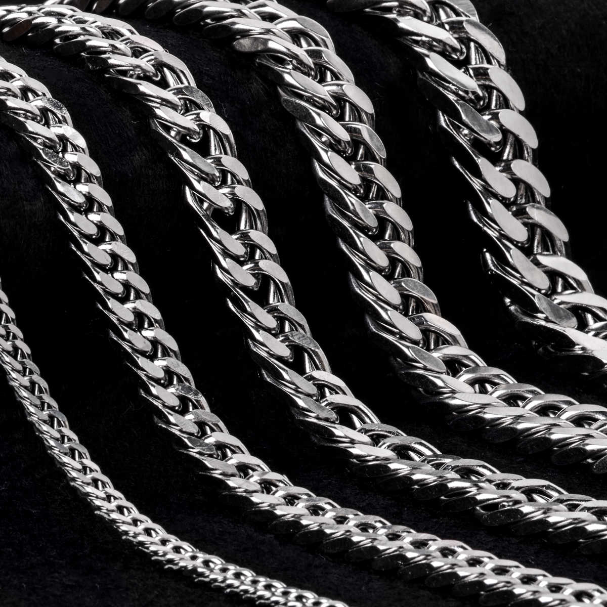 Stainless Steel Bracelet Punk Vintage Hip Hop Chain Jewelry Silve Bracelet For Men Male Bangle Cuff Chain Bracelet Shellhard